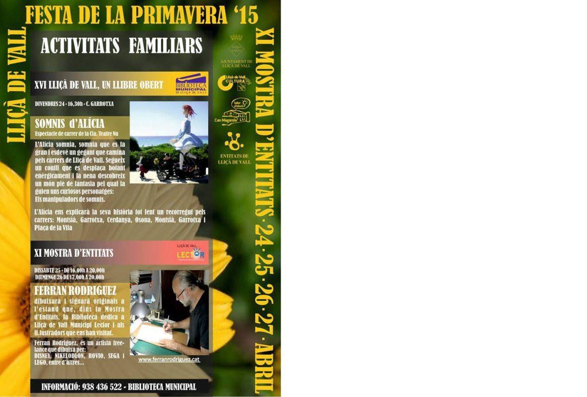 Cartel Feria de entidades Lliçà de Vall